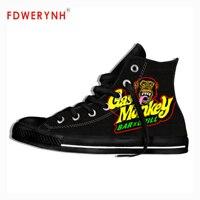funny Hot Rod Garage gas men monkey shoes
