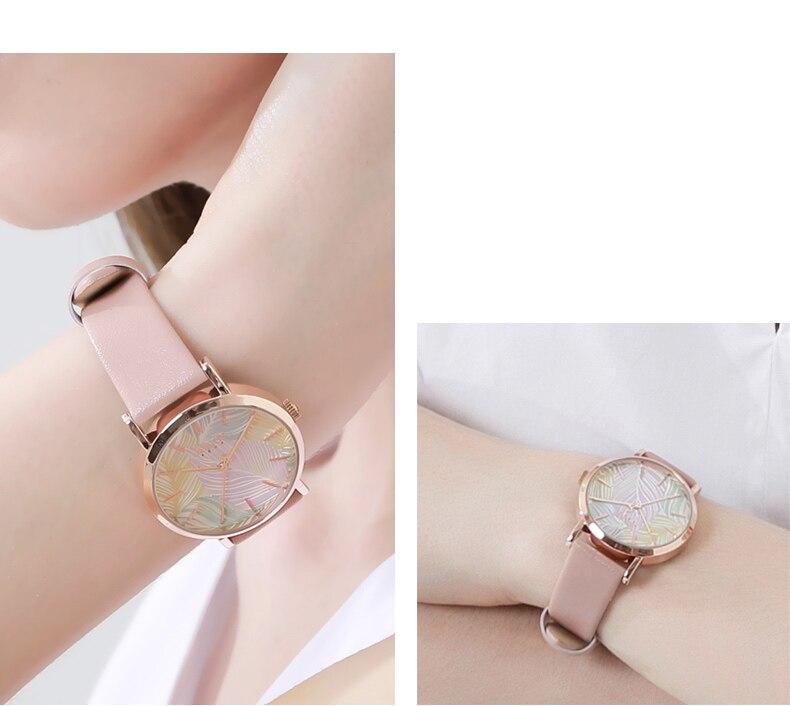 miyota quartzo horas moda senhoras vestido pulseira