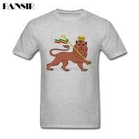 Gorgeous T Shirts Men Lion Of Judah Ethiopian Men T Shirt Custom Cotton Short Sleeve Group Clothing