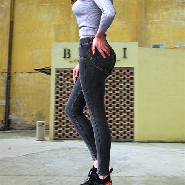 Casual Jeans Skinny Leggings Denim Pants Push Up Hip Pencil High Street 3