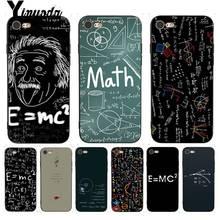 Yinuoda mc2 with E=mc Math Albert Einstein Phone Case for iPhone X 8 7 6 6S Plus 5 5S SE XR XS XSMAX11 11pro 11promax