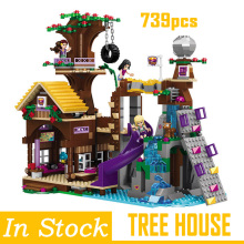 Legoings technic Friends City Girl Adventure Camp Tree House Party DIY Model Building Blocks Bricks Kids House Gifts Toys 34052 house building bricks legocean city streetview villa garden building blocks sets doll model house gifts kids children toys
