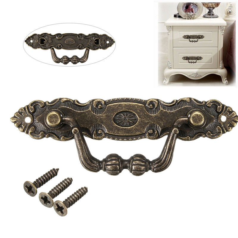 цена на Antique Bronze  Furniture Handle Zinc Alloy  Drawer Door for Dresser Drawer Cabinet Cabinet Cupboard Handle Furniture Knobs