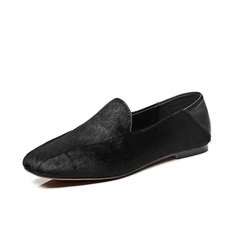 DORATASIA ขนาดใหญ่ใหม่ขนาด 33 42 Polka Dot ผู้หญิง Horsehair Loafers รองเท้าผู้หญิงสบายๆสำนักงานพรรคฤดูใบไม้ผลิฤดูใบไม้ร่วง-ใน รองเท้าส้นเตี้ยสตรี จาก รองเท้า บน   3