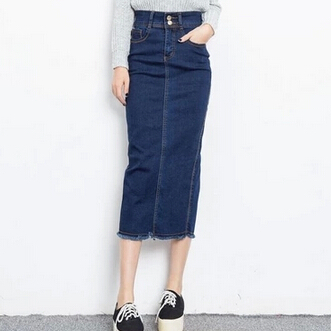 Popular Long Denim Pencil Skirt-Buy Cheap Long Denim Pencil Skirt ...