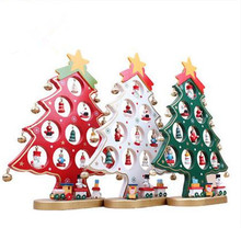 New Style 3D Wooden Christmas Tree Table Ornaments Xmas Decoration For Shop Window Counter table etc. DIY Creative Gift Toys