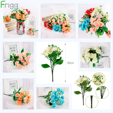 FRIGG  Artificial Butterfly Orchid Flowers For Decor Silk Flower Bouquet Phalaenopsis Real Touch Fake