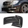 W204 углеродное волокно передний бампер боковое вентиляционное отверстие Украшение Наклейка для Mercedes Benz W204 C63 AMG 2012-2014 вентиляционное отверст...