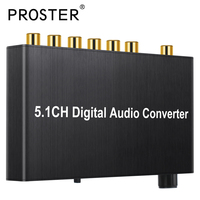 Konwerter Dekoder DAC Wsparcie AC-3 Dolby DTS Cyfrowe Optyczne Toslink Koncentryczne rca 3.5mm Jack Wsparcie Przejść 2.0CH 5.1CH Adapter