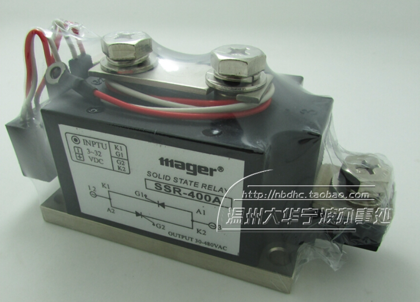 mager phase solid state relay 400A industrial grade solid state relay MGR-H3400Z DC control AC SSR-400A mager genuine new original ssr single phase solid state relay 20a 24vdc dc controlled ac 220vac mgr 1 d4820