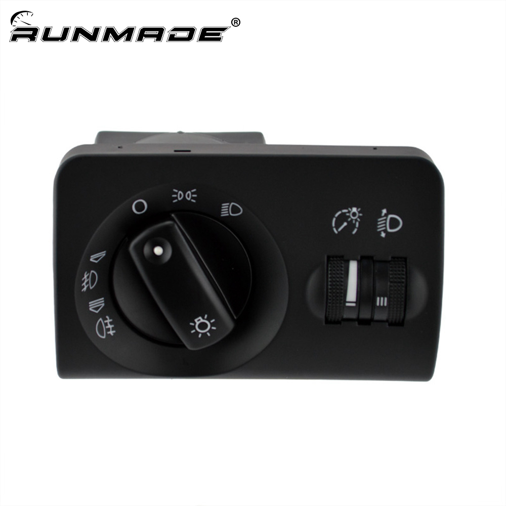 runmade Headlight Fog Light Lamp Control Switch 4B1941531F 4B1 941 531 F For Audi A6 C5 A6 Allroad A6 Quattro RS6 wooeight 4f5 945 096 d rear tail right light taillight assembly lamp housing without bulb for audi a6 a6 quattro sedan 2005 08