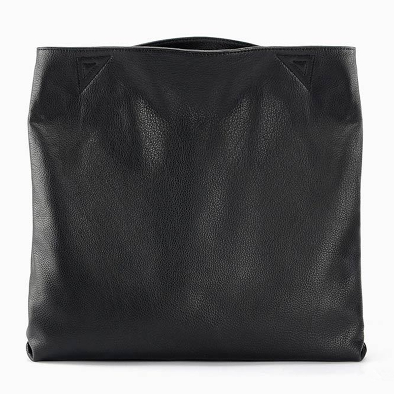 100% Genuine Leather Casual Tote Large Capacity Leather Women Handbag and Purse Fashion Black Shoulder Bag Lady Messenger bag
