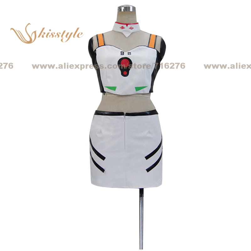 Kisstyle Мода eva Евангелион Rei Ayanami форма COS Костюмы Косплэй костюм, индивидуальные принимаются