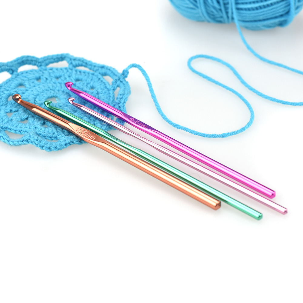 14 Pcs Looen Mix Sizes 2 10mm Multicolor Aluminium Crochet Hook Set Weave Yarn Knitting Needles Sewing Craft Hooks For Women in Sewing Tools Accessory from Home Garden