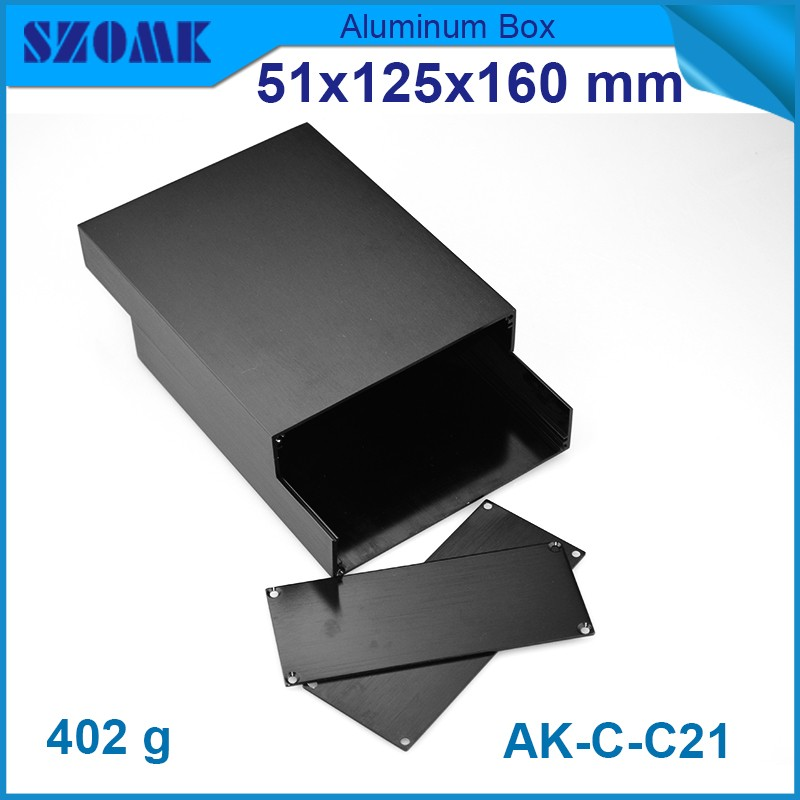 4 pieces aluminium Black color distribution box circuit breaker 51*125*160mm metal box enclosure лонгслив befree befree be031ewpka94