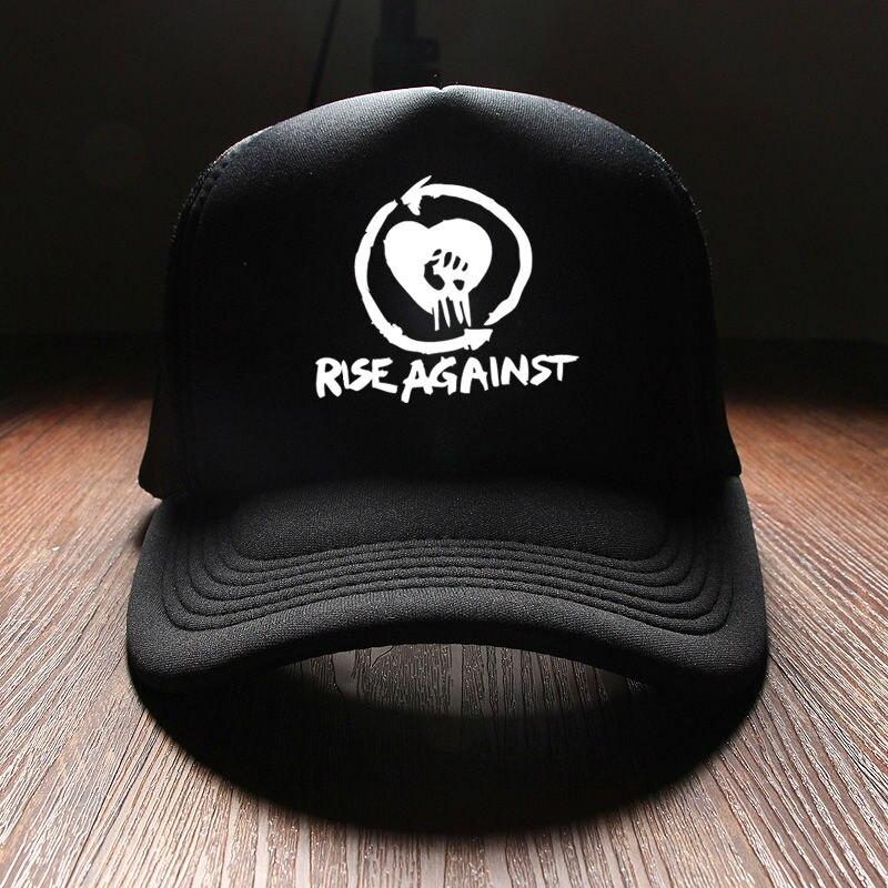 Unisex Punk Rise Against Rock Band Hats For Women Hip Hop Mens Fashion  Snapback Baseball Caps 8d45280b305e