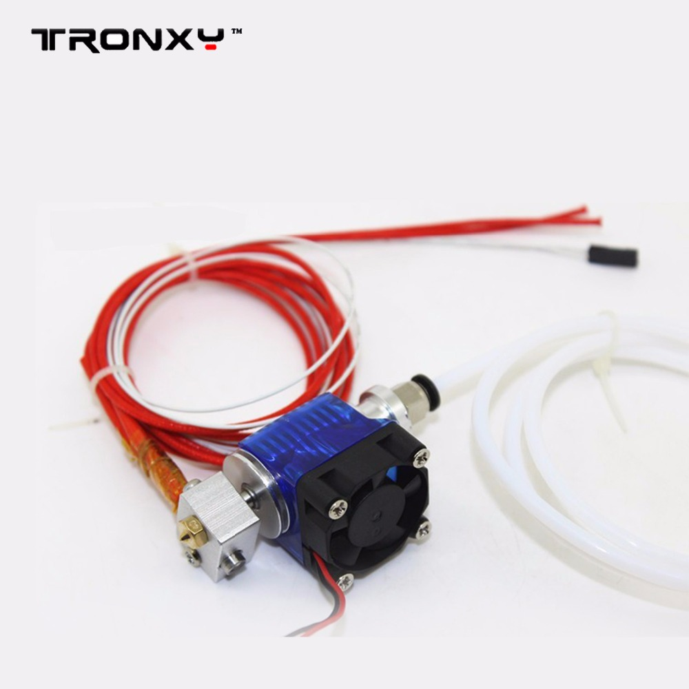Tronxy hotend V6 J-heat with cooling fan for 3D printer extruder 1.75mm filament diameter long distance with teflon thermistor