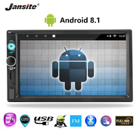Jansite 7 inch touch screen 2 din Android multimedia player MP5 display car radio Double Din Universal Phone link Bluetooth