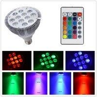 LMCO Led Spotlights 12 Wát E27 Dimmable PAR38 LED Light Bulb Ánh Sáng Đầy Màu Sắc 16 Sự Thay Đổi Màu với 24Key IR Từ Xa điều khiển