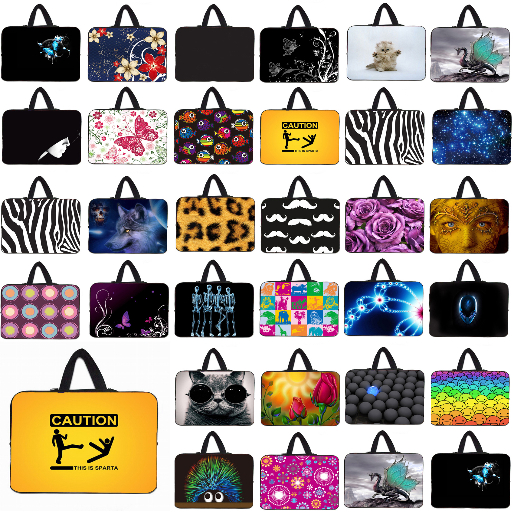 Mini PC Netbook Shell Case Bags For Apple iPad 1 2 3 4 9.7 Netbook Laptops Inner Pouch Bag 10.1 12 13 14 15 16 17 Computer Bag