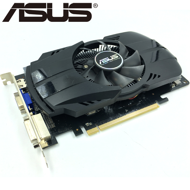 US $32 88 |ASUS Video Card HD 7770 1GB 128Bit GDDR5 Graphics Cards for ATI  Radeon HD7770 VGA Cards Used Equivalent GTX 750 GTX650 Ti-in Graphics Cards