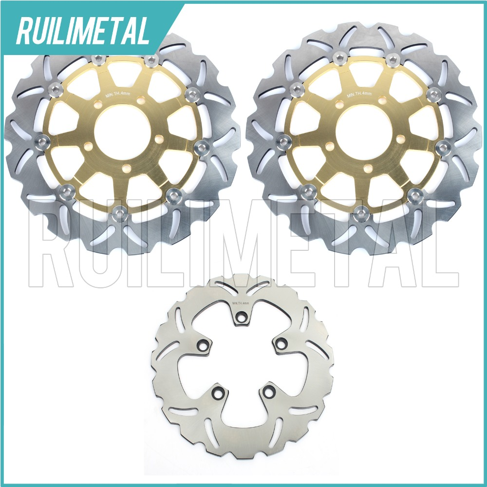Full Set New Front Rear Brake Discs Rotors for Suzuki GSX 600 F Katana 03 04 05 06 GSX750F K4 K5 K6 GSF 650 Bandit / S / ABS  motorcycle front and rear brake pads for suzuki gsf600 s y k naked bandit s k faired bandit f katana sv650 gsx750 f katana