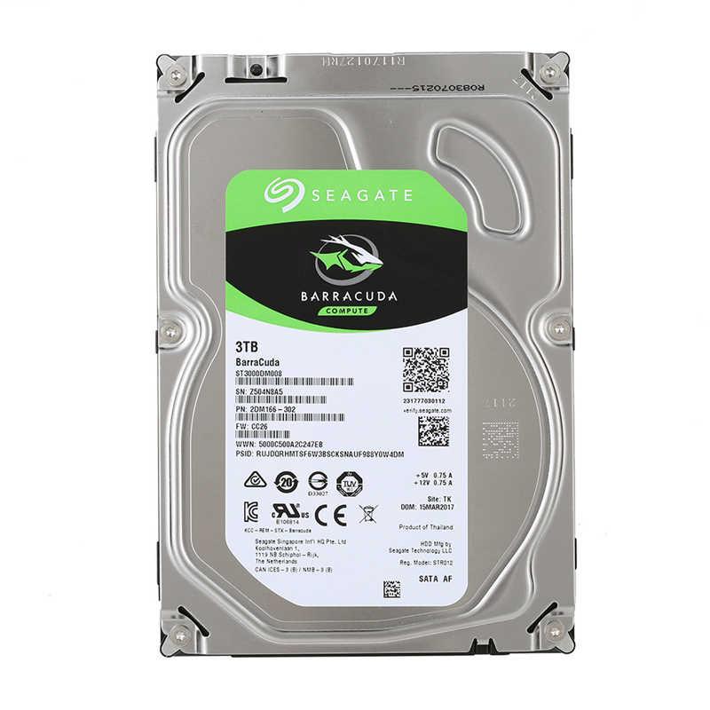 سيجيت 3 تيرا بايت HDD سطح الصلب الداخلي محرك أقراص 3.5 ''3 تيرا بايت 5400RPM SATA 6 جيجابايت/ثانية القرص الصلب ل الكمبيوتر PC ST3000DM007