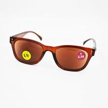Новое поступление, коричневые солнцезащитные очки для чтения, для мужчин и женщин, Ретро стиль, заклепки, защита от солнца, очки, очки, Leesbril gafas de lectura A1