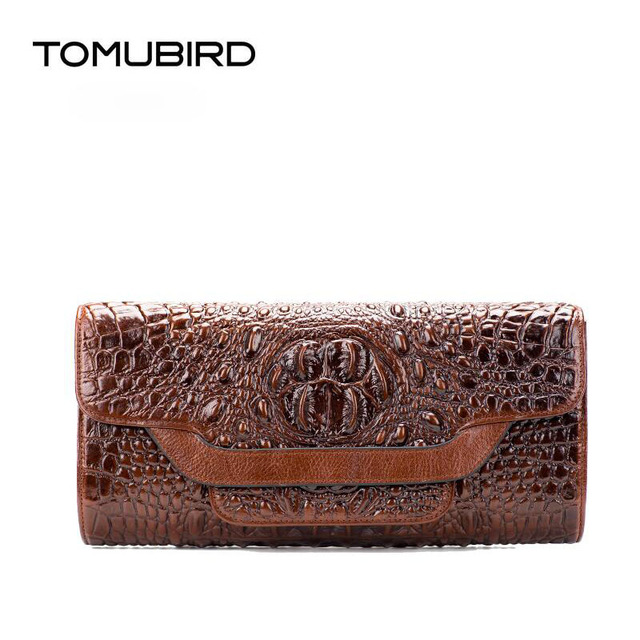 TOMUBIRD 2017 New women genuine leather bag fashion Crocodile pattern embossing real leather shoulder bag women clutch Bag