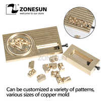 ZONESUN инструменты для резьбы логотипа тиснение гибкий брендинг Персонализированные формы букв для дерева на заказ железные детали латунные ...