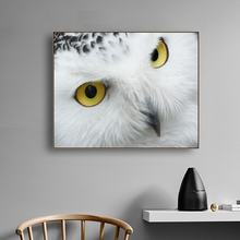 Snowy Owl Animals Decor Wall Art Canvas Poster and Print Painting Decorative Picture for Living Room Bedroom Home