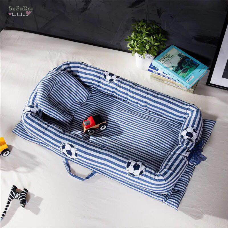 Berceau Portable pour bébés bébé enfant en bas âge chambre meubles voyage bébé berceau nid nouveau-né chambre ensembles de literie tapis + oreiller