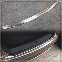 1* Car styling Exterior Stainless Steel Matte Outer Bumper Plate Protector Trim For Land Rover Range Rover Velar 2017 2018