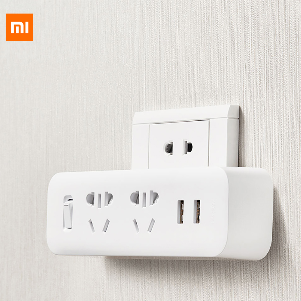 Original Xiaomi Mijia Power Strip Converter Portable Socket Plug 5V 2.1A USB Fast Charging Port For Home Office Travel Adapter