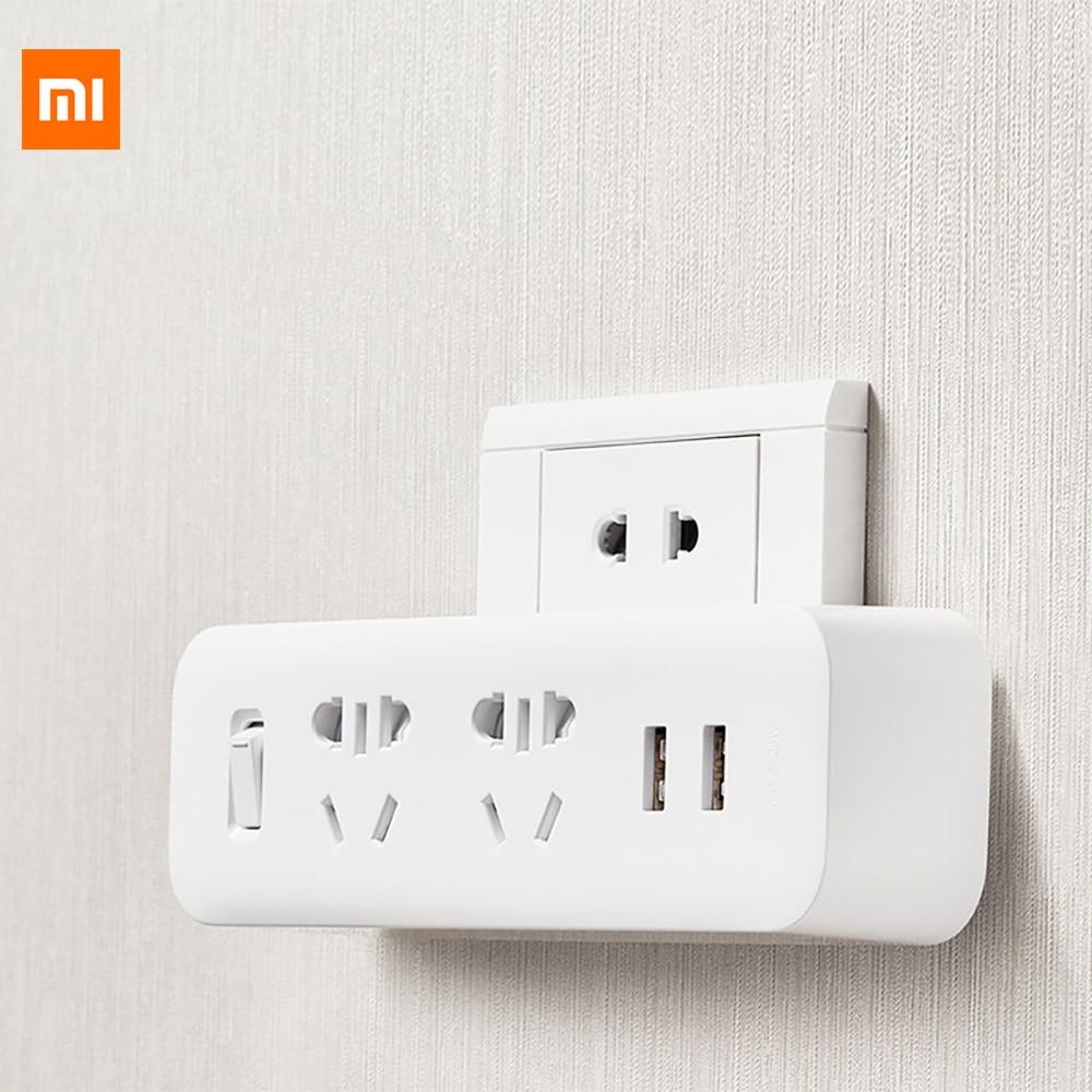 Original Xiaomi Mijia Power Strip Converter Portable Socket Plug 5V 2.1A USB Fast Charging Port For Home Office Travel Adapter