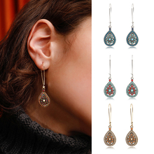 Vintage Boho India Ethnic Water Drip Beads Dangle Drop Earrings for Women Female 2019 Wedding Party girls Jewelry Accessories bohemian water drop beads dangle earrings for women vintage ethnic boho india earrings wedding party jewelry accessories