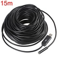 hot 15m Waterproof Mini USB Endoscope Inspection Camera 6 White LEDs 1/9 CMOS 9mm Lens Mini Borescope Snake Tube Camera with P2P