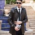 Мужские Кожаные Куртки Весна И Осень Черная Кожаная Куртка Для мужская Кожаная Пальто Свободные Большой Размер PU Jaqueta Де Couro Masculino