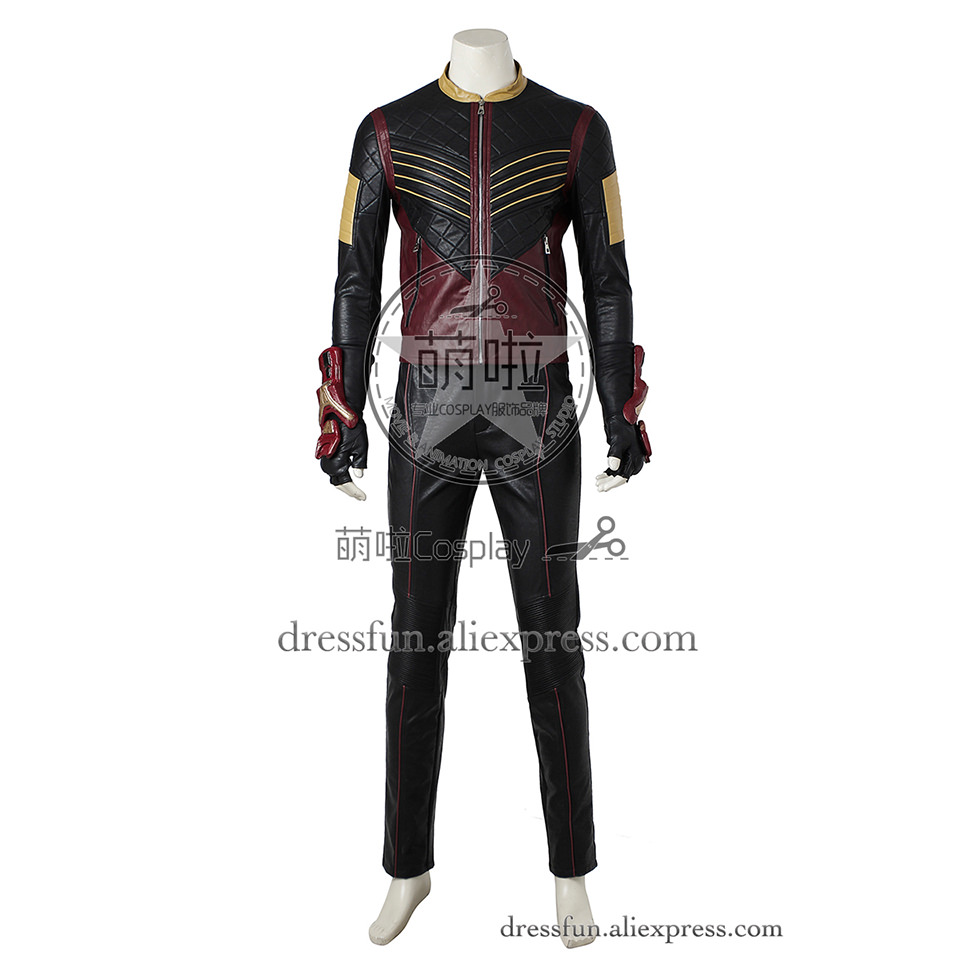 The Flash Cosplay Costume Vibe Paco Ramone Outfits Uniform Full Set Clothing Fast Shipping Dress Halloween Glamorous Party