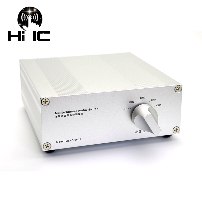4 Input 1 Output 5 Input 1 Output Passive Audio Signal Switcher Switch Selector Box Sound