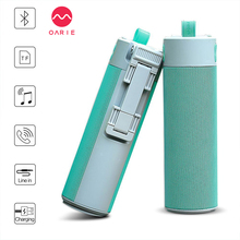 OARIE Bluetooth Speaker with Selfie Stick/Power Bank/Phone Shelf for Out Sports Wireless Speakers 10 Hours Playing Time Soundbox