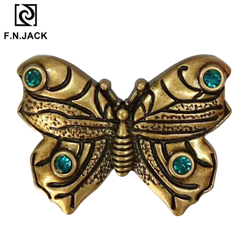 Beautiful Butterfly Metal Accessories For Belts 2019 Elegant Designed Belts Buckle Two Colors Available
