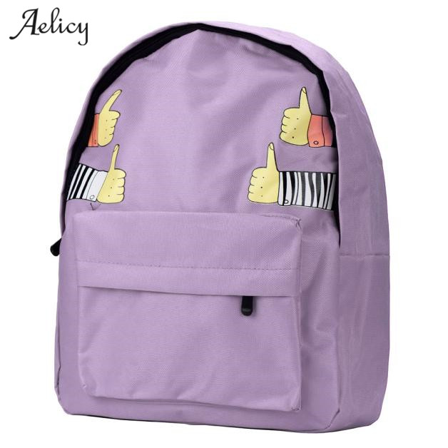 Aelicy dropshipping new 2019 hot selling Women Double-Shoulder Thumb Thumb up Canvas Backpack Schoolbag mochila feminina SACAelicy dropshipping new 2019 hot selling Women Double-Shoulder Thumb Thumb up Canvas Backpack Schoolbag mochila feminina SAC