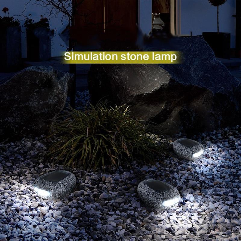 Waterproof LED Solar Simulation Stone Lamp Outdoor Garden Lawn Home Emergency Torch Lighting Courtyard Corridor Landscape Lights
