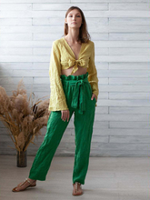 Summer High Waist Sashes Women's Pants 2019 Cotton And Linen Harem Pants Solid Casual Long Trousers Slim Pocket Pants 2XL