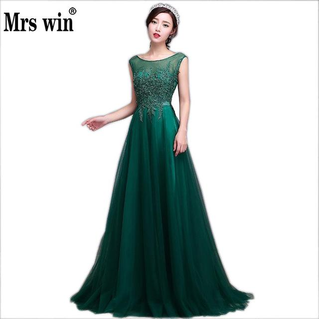 2018 New Arrival Green Lace Long Evening Dresses Fashion Banquet ...