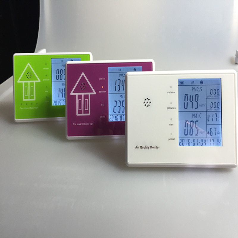 indoor air quality monitor Air PM2.5 Monitoring  and temperature,humidity show 0 2000ppm range wall mount indoor air quality temperature rh carbon dioxide co2 monitor digital meter sensor controller