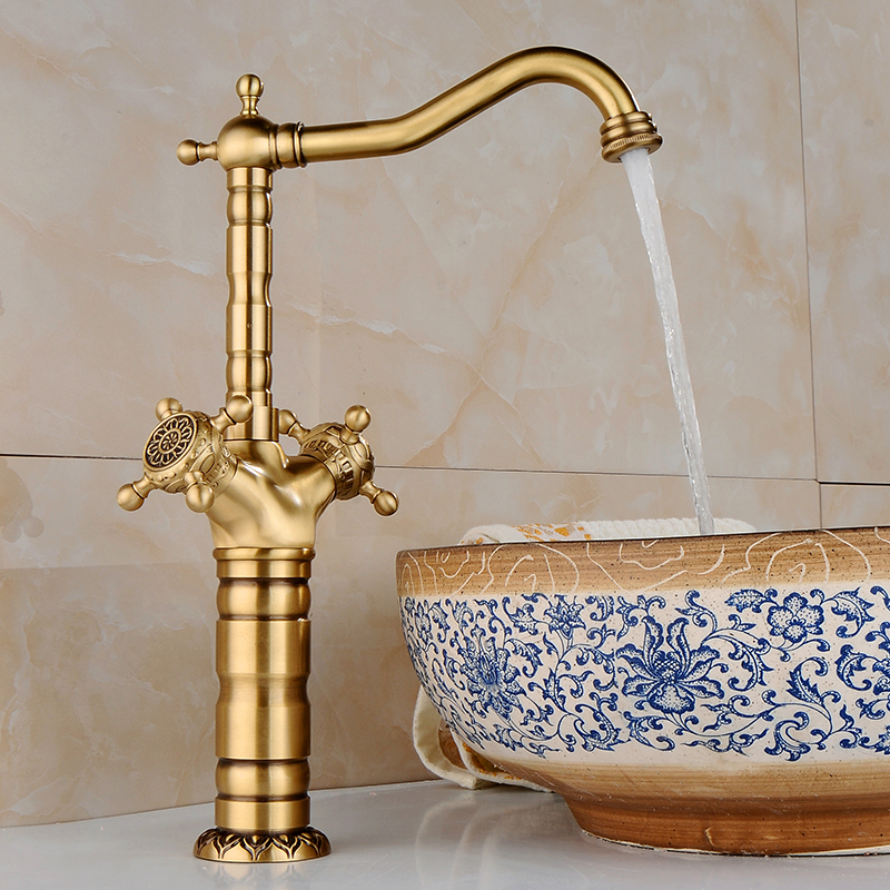 цены  Antique Brass Bathroom Basin Faucet tap Swivel Spout Vanity Sink Mixer Free Shipping Wholesale And Retail Promotion  CA-9903K