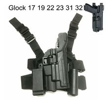Tactical Combat Glock Airsoft Pistol Gun Holster Light Bearing LV3 Glock 17 19 22 23 31 32 Gun Carry Case Quick Drop Leg Holster недорого
