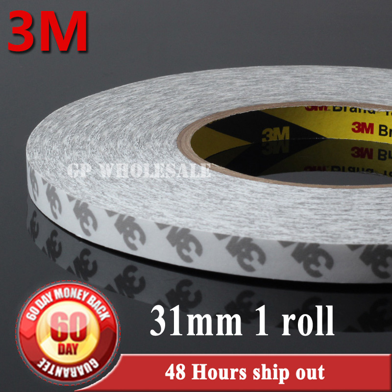 цена на 1x 31mm*50 meters 3M 9080 double Sides Adhesive Tape High Temp Resist for Electrical Name Plate Screen Joint freeshipping